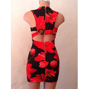 e86061859 Vestido Negro De Flores Rojas Vestidos Cortos Mujer - Vestidos en ...