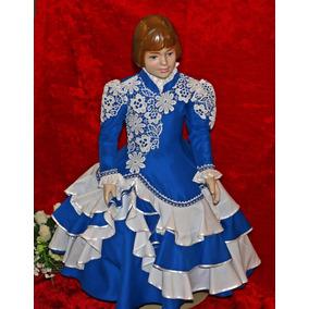 d6c7598e89592 Vestido De Prenda Gaúcha Tam. 4-6-8 C  Saia De Armação
