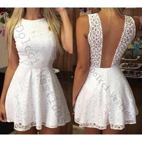 f6f2a8da8f Vestido De Festa Com Tule E Brilho Curto - Vestidos Branco no ...