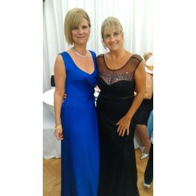 Vestido de fiesta largo azul francia