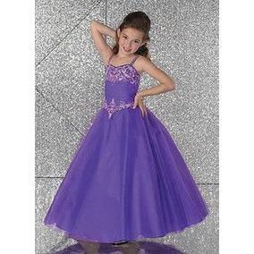 cc055e0af Vestidos Transparente Gasa Vestido Violeta Para En Blanco De Niñas ZuXPki