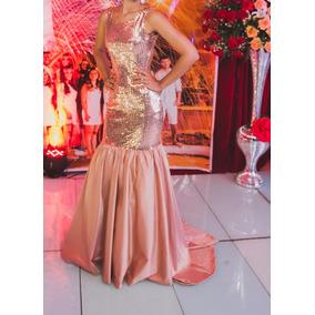 172f3671a Vestidos Marca Lucidez - Vestidos De Formatura Dourado escuro no ...