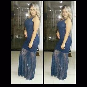 8b24bc1a3a Vestido Longo Azul Sereia - Vestidos De Batizado Longos Femininas no ...