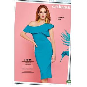 62378de3c3ffd Vestido Cklass Azul Turqueza 310-56 Primavera Verano 2018
