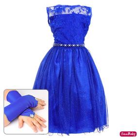 Vestido cor azul anil