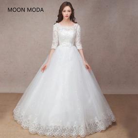 Vestido De Noiva Meia Manga Noivas Longos Vestidos