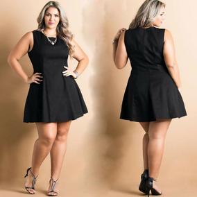 3d7f5079c Vestido Rodado Plus Size - Vestidos Casuais Femininas no Mercado ...