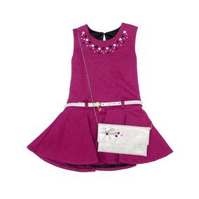 eeb1347c899 Vestido Formal Marca Gerat Incluye Bolsa Para Niña De 4 A 12