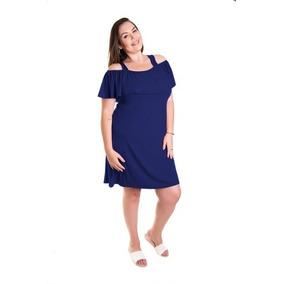 20807ba01 Roupa Feminina Vestido Cigana Plus Size Com Babado E Alça