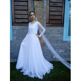 dd3ea6654 Vestido Gode Duplo Longo - Vestidos De Noivas Femininas no Mercado ...