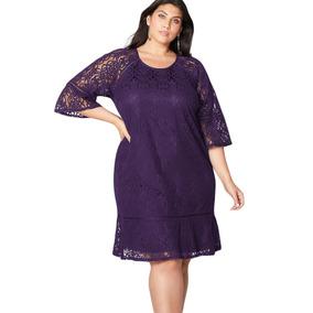 d88bb54ae4 Vestido Encaje Vestidos Mujer - Vestidos Violeta en Mercado Libre México