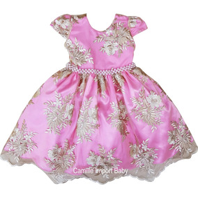 20f429425 Vestido Festa Cor Rosa Seco De - Vestidos De Festa para Meninas ...