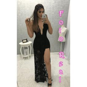 b251e6ab8c Macacao Promotora - Vestidos Casuais Longos Femininas Preto no ...