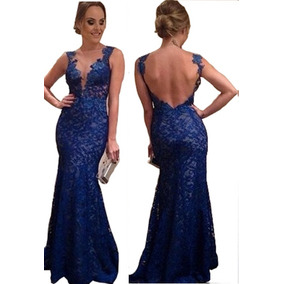 5aacdcdd7 Vestido De Festa Azul Royal Gg Lady Botelho Lindo!!! - Vestidos ...