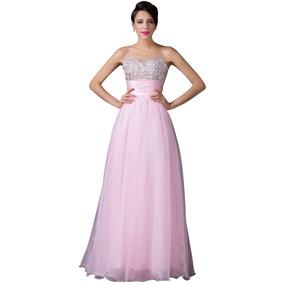 81f199811 Vestido Pano Fino Vestidos - Vestidos De 15 anos Longos Rosa claro ...