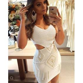 d3147d986 Vestido Curto Em Pedraria - Vestidos Curtos Femininas Branco no ...