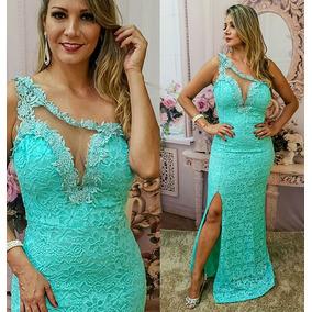 588b418d05 Vestido De Festa Renda Verde Agua - Vestidos De Madrinha no Mercado ...