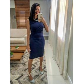 229099e3a Vestido Colcci Midi Nó Azul-marinho - Novo E Original