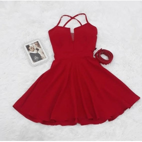 39cc81d5ef Vestido Boneca Rodado Atacado - Vestidos Curtos Femininas Vermelho ...