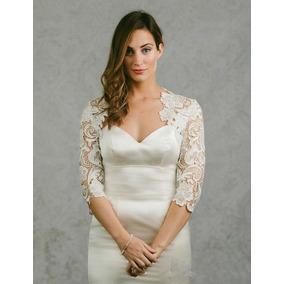 Bolero Noiva Renda Guipir Vestido Sereia Madrinha Plus Size