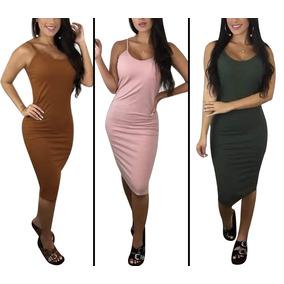 6382aa87d1 Vestido Cinza De Malha - Vestidos Femininas Rosa em Santa Catarina ...
