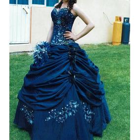 Vestidos de xv azul rey con plateado