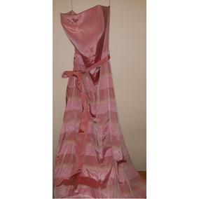 88baa8263 Vestido De Fiesta Rosa Y Dorado Precio Negociable