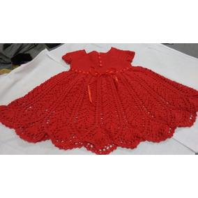 36e75cc1f452 Vestido Infantil Em Croche Tamanho 3 A 4 Anos Tamanho 3 - Vestidos 3 ...