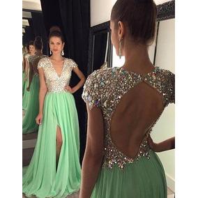 abba27088 Vestido De Formatura Festa Sensual - Vestidos De Formatura Verde ...