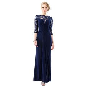 670978d6a Vestido De Noche Corte Irregular Marca Massima - Ropa