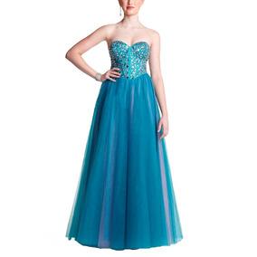 25fe92246 Vestido Longo Em Cetim Azul Royal - Vestidos Longos Femininas Azul ...
