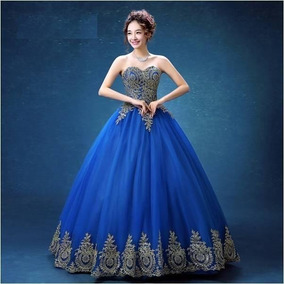 Vestidos de 15 en azul rey