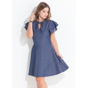 2095b0f0d Vestido Evase Azul Estampado Gerci Vestidos Feminino Tamanho G ...