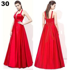 96c0e95ba Vestido De Festa Cetim Vermelho Tam: Gg - Vestidos De Festa Longos ...
