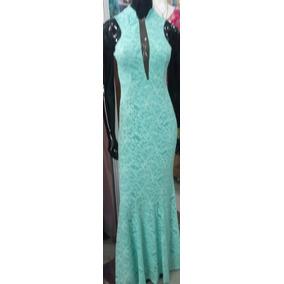 67b58c3cd7a04 Vestido Festa Longo Verde Tiffany Aluguel - Vestidos Longos ...