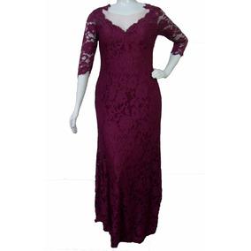 cbe3a3523 Vestido Longo Manga Cor Marsala Vestidos Feminino - Vestidos Longos ...