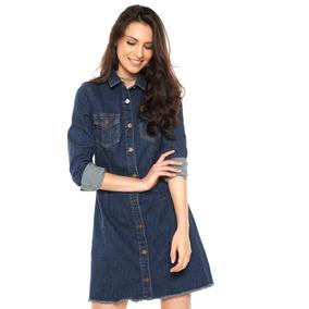 41838a8514 Vestido Cantão Blue Jeans Carolita Tam Gg Com Tag