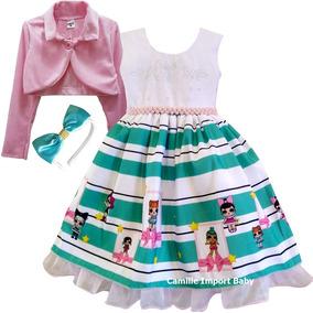 5678a7dcc3 Vestido Lol Menina Tamanho 16 - Vestidos Meninas 16 Rosa claro no ...