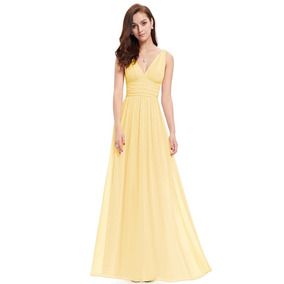 1bf3fd3746 Cinturon De Laton Vestidos Noche Largos Mujer - Vestidos Amarillo en ...