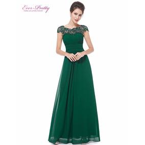 Vestido Largo Verde Jade Ropa Bolsas Y Calzado De Mujer