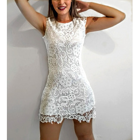 e3ea33c1c Vestido Tubinho De Renda Colorido - Vestidos Casuais Femininas ...