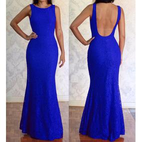 2e0ebae93 Vestido De Madrinha Azul De Inverno Dexotado Nas Costas - Vestidos Longos  Preto no Mercado Livre Brasil