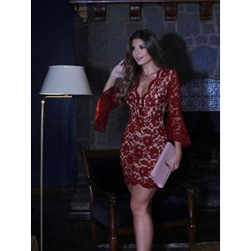 75db99f65 Vestidos Renda Com Forro Vermelho Por Baixo - Vestidos Curtos ...