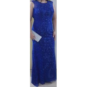 d49bbe5a1 Vestido Festa Longo Importado Brecho Azul Royal - Vestidos no ...
