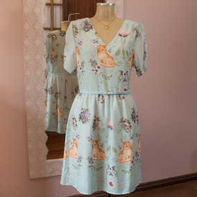 5ec2c53651 Kitson Vestido Floral Gatinho! Novo