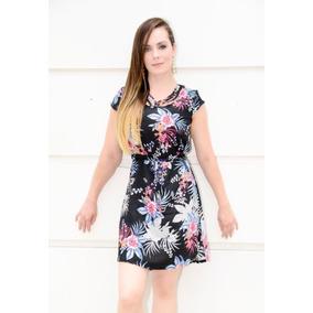 360338896 Vestido Curto Estampa Floral Elastico Cintura - Vestidos Femininas no  Mercado Livre Brasil