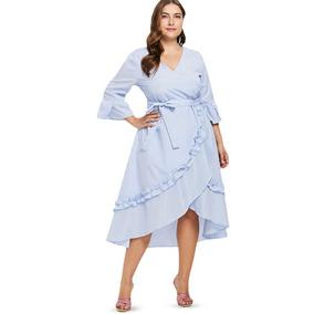 887560ae6 Airydress Vestido Largo - Vestidos Largos de Mujer Azul acero en ...