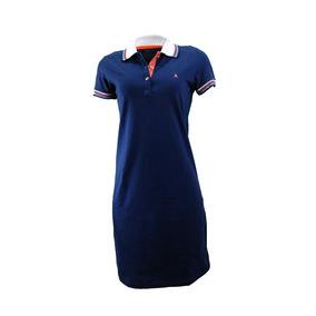 85837a28ba2b2 Vestido Dianna Pólo Azul Marinho