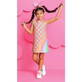 da06c48834 Vestido Infantil Estampado - Vestidos Meninas em Sorocaba no Mercado ...