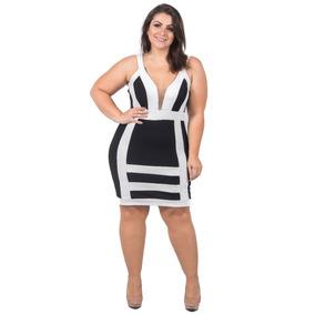3ebc7fe07 Vestido Feminino Plus Size G1 G2 G3 52 54 Moda Verão